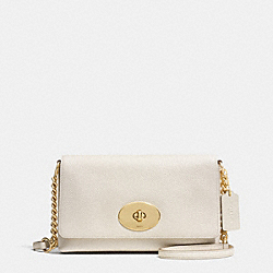 COACH F53083 Crosstown Crossbody In Pebble Leather LIGHT GOLD/CHALK