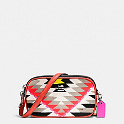 COACH F53198 Crossbody Pouch In Printed Crossgrain Leather SVE2M