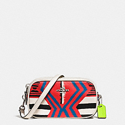COACH F53198 - CROSSBODY POUCH IN PRINTED CROSSGRAIN LEATHER SVE2O