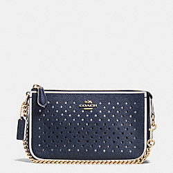 COACH F53225 Nolita Wristlet 19 In Perforated Leather  LIBGE