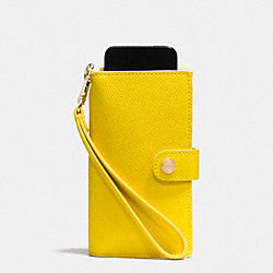 COACH PHONE CLUTCH IN CROSSGRAIN LEATHER - IMYLW - F53311