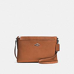JOURNAL CROSSBODY - f53357 - SILVER/SADDLE
