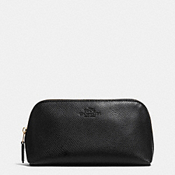 COACH F53386 Cosmetic Case 17 In Crossgrain Leather LIGHT GOLD/BLACK