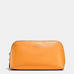COACH F53386 Cosmetic Case 17 In Crossgrain Leather IMITATION GOLD/ORANGE PEEL