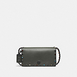 COACH F53404 Dinky With Rivets V5/DARK OLIVE