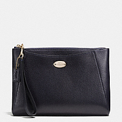 MORGAN CLUTCH 24 IN PEBBLE LEATHER - f53417 - LIGHT GOLD/MIDNIGHT