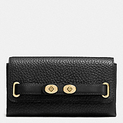 COACH F53425 Blake Wallet In Bubble Leather IMITATION GOLD/BLACK F37336
