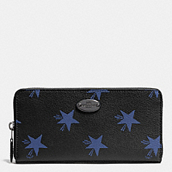 COACH F53426 Accordion Zip Wallet In Star Canyon Print Coated Canvas QB/BLUE MULTICOLOR