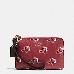 COACH F53430 Corner Zip In Bramble Rose Coated Canvas IMBYM