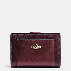 COACH F53437 Corner Zip Wallet In Bicolor Crossgrain Leather IME8I