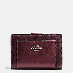 COACH F53437 Corner Zip Wallet In Bicolor Crossgrain Leather IME8I