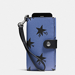 COACH F53440 Phone Clutch In Star Canyon Print Coated Canvas QBEB6