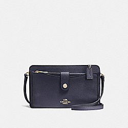 COACH F53529 - NOA POP-UP MESSENGER NAVY/LIGHT GOLD