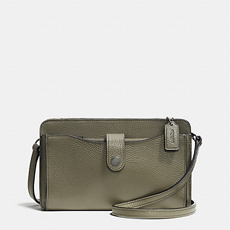 COACH F53529 MESSENGER WITH POP-UP POUCH IN PEBBLE LEATHER BLACK-ANTIQUE-NICKEL/SURPLUS