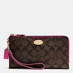 COACH F53563 Double Zip Wallet In Signature IME9T
