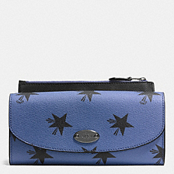 COACH F53568 Pop Slim Envelope Wallet In Star Canyon Print Coated Canvas QBEB6