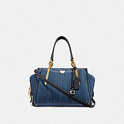 COACH F53621 Dreamer With Quilting B4/MEDIUM DENIM
