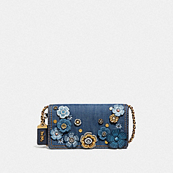 COACH F53705 Dinky With Tea Rose B4/MEDIUM DENIM