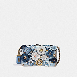COACH F53706 Dinky With Tea Rose B4/LIGHT DENIM