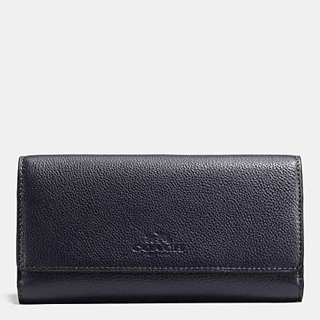 the latest de9db 5e935 COACH F53708 - TRIFOLD WALLET IN PEBBLE LEATHER - IMITATION ...