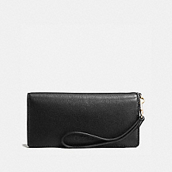 COACH F53767 Slim Wallet BLACK/IMITATION GOLD
