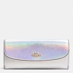 SOFT WALLET IN HOLOGRAM LEATHER - f53877 - IMITATION GOLD/SILVER HOLOGRAM
