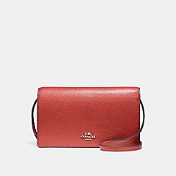 FOLDOVER CROSSBODY CLUTCH - f54002 - TERRACOTTA 2/LIGHT GOLD