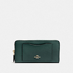 COACH F54007 Accordion Zip Wallet IM/EVERGREEN