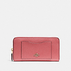 COACH F54007 - ACCORDION ZIP WALLET ROSE PETAL/IMITATION GOLD