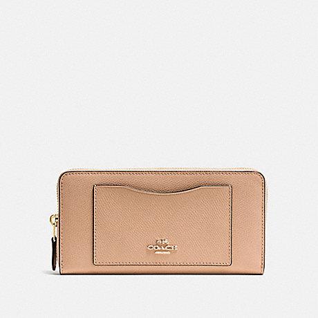 Wallets - Accordion Zip Around Metallic Leather Platinum - gold - Wallets for ladies Coach 4NAKxx