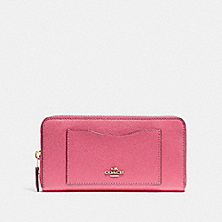 COACH F54007 Accordion Zip Wallet STRAWBERRY/IMITATION GOLD