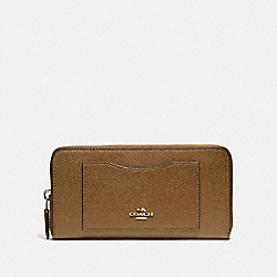 COACH F54007 - ACCORDION ZIP WALLET LIGHT SADDLE/LIGHT GOLD