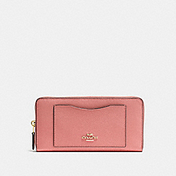 COACH F54007 Accordion Zip Wallet MELON/LIGHT GOLD