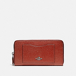 COACH F54007 Accordion Zip Wallet TERRACOTTA 2/LIGHT GOLD