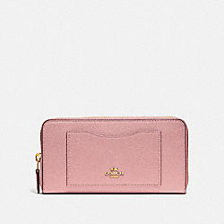 COACH F54007 Accordion Zip Wallet IM/PINK PETAL