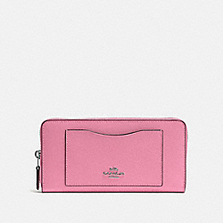 COACH F54007 Accordion Zip Wallet PINK/BLACK ANTIQUE NICKEL