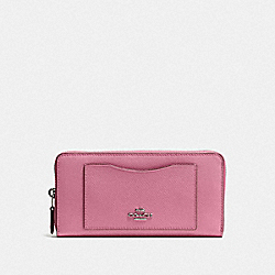 COACH F54007 - ACCORDION ZIP WALLET QB/PINK ROSE