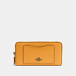 COACH F54007 Accordion Zip Wallet QB/YELLOW