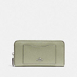 COACH F54007 Accordion Zip Wallet PALE GREEN/SILVER