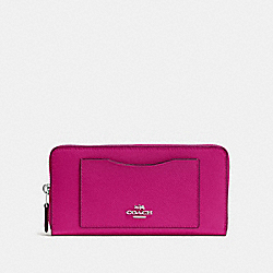 COACH F54007 Accordion Zip Wallet CERISE/SILVER