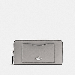 COACH F54007 - ACCORDION ZIP WALLET GREY BIRCH/SILVER