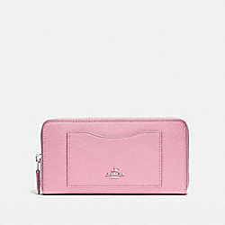 COACH F54007 Accordion Zip Wallet SILVER/BLUSH 2