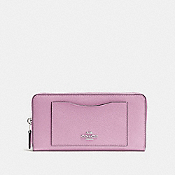 COACH F54007 Accordion Zip Wallet LILAC/SILVER