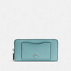 COACH F54007 Accordion Zip Wallet MARINE/SILVER