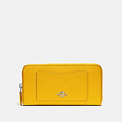 COACH F54007 Accordion Zip Wallet CANARY 2/SILVER
