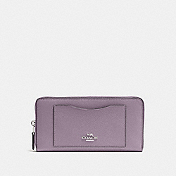COACH F54007 - ACCORDION ZIP WALLET JASMINE/SILVER