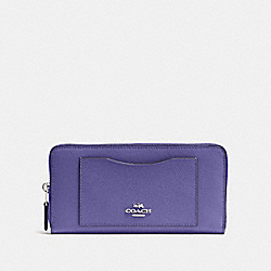 COACH F54007 Accordion Zip Wallet LIGHT PURPLE/SILVER