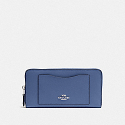 COACH F54007 Accordion Zip Wallet SV/BLUE LAVENDER