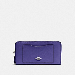 COACH F54007 Accordion Zip Wallet SILVER/VIOLET