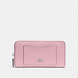 COACH F54007 - ACCORDION ZIP WALLET CARNATION/SILVER